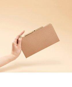 [トプカピ] TOPKAPI イタリアンレザー・リザード型押し・がま口長財布 LUCIA ルチア