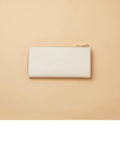 [トプカピ] TOPKAPI イタリアンレザー・リザード型押し・Lファスナー長財布マチ付き LUCIA ルチア