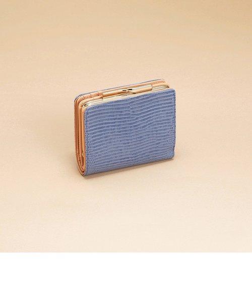 [トプカピ] TOPKAPI イタリアンレザー・リザード型押し・がま口2つ折り財布 LUCIA ルチア