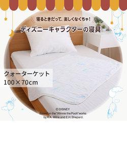[Disney] 6重織ガーゼクウォーターケット/くまのプーさん 100×70cm ブルー/イエロー