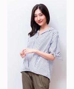 袖リボンスキッパーシャツ