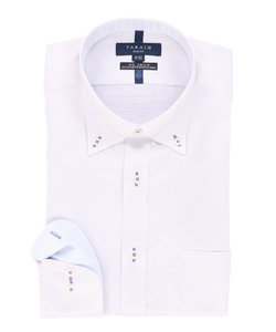 形態安定(ノーアイロン)スリムフィットボタンダウンビジネスドレスシャツ