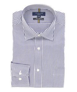 形態安定(ノーアイロン)スリムフィットワイドカラービジネスドレスシャツ