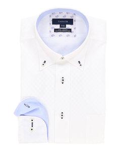 形態安定(ノーアイロン)レギュラーフィットボタンダウンビジネスドレスシャツ