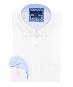 形態安定(ノーアイロン)レギュラーフィットドゥエボットーニボタンダウンビジネスドレスシャツ
