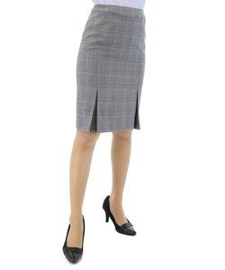REDA グレーチェックセットアップタイトスカート