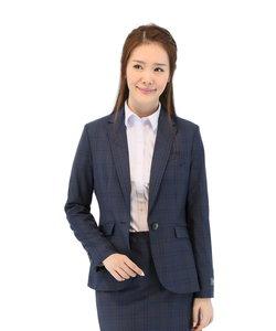 REDA 紺チェックセットアップテーラードジャケット