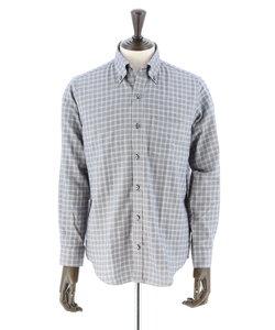 サーモライト起毛チェック柄ボタンダウンシャツ