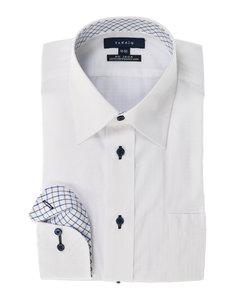 形態安定レギュラーフィットレギュラーカラー長袖ビジネスドレスシャツ