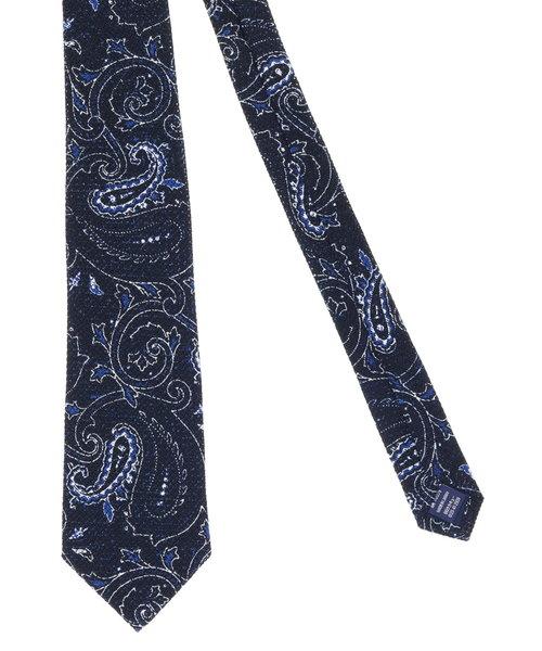 日本製シルクペイズリー柄レギュラーネクタイ8.5cm幅