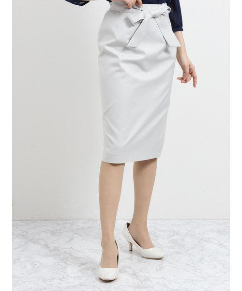 ボンフォルト セットアップタイトスカート ライトグレー
