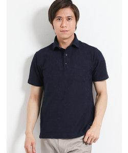 リンクスボタニカル柄半袖ポロシャツ