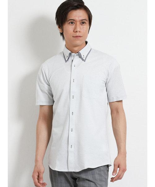 Biz 2枚衿ボタンダウン半袖カットシャツ/ビズポロ/クールビズ