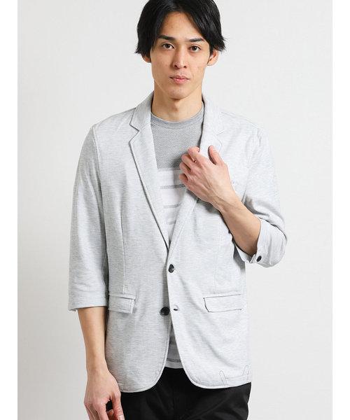 スラブバーズアイ7分袖カットジャケット