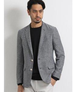 カラミ織りストレッチ スリムフィット2ボタンテーラードジャケット