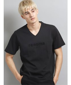 エナメル ロゴVネック半袖Tシャツ