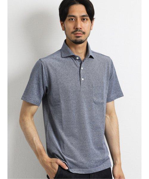 アレキサンダージュリアン/ALEXANDER JULIAN×Gim アイスリネン吸汗速乾半袖ポロシャツ
