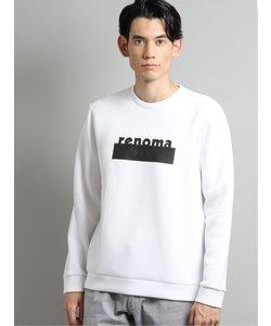 ポンチ厚盛ラバープリント クルーネック長袖Tシャツ