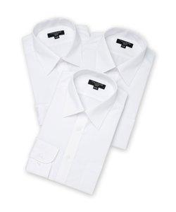 【WEB限定】タカキューメンズ/TAKA-Q:MEN 形態安定抗菌防臭 スリムフィット長袖シャツ3枚セット