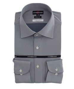 接触冷感プラチナムニット スリムフィット ワイドカラー長袖シャツ