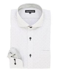 形態安定(ノーアイロン)カッタウェイビジネスドレスシャツ