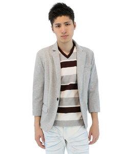 ストレッチポンチ素材7分袖ジャケット
