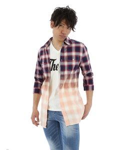 ブリーチオンブレー7分袖チェック柄シャツ