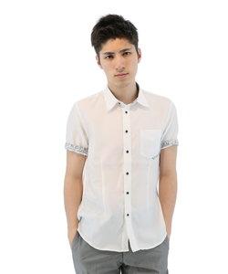ドビーストライプ半袖シャツ