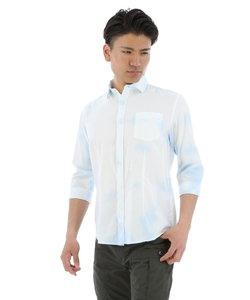 クールタッチリネン斑加工シャツ