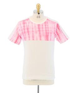 タイダイ切替クルーネック半袖Tシャツ