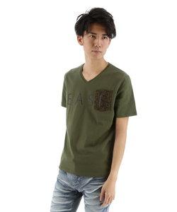 コールドタッチポケット付ロゴTシャツ