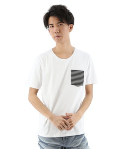 コールドタッチボーダーポケット付Tシャツ