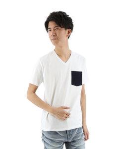 コールドタッチワッフルポケット付Tシャツ