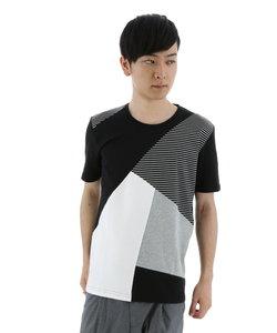 ワッフルスクエアスラントパネルTシャツ