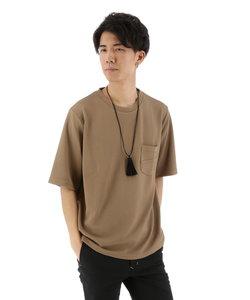 フクレジャガードネックレス付きワイドTシャツ