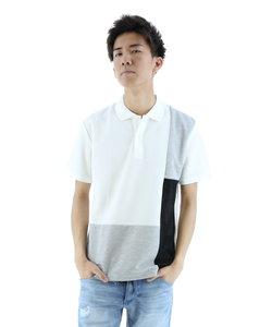 汗染み防止加工 パネル切替ポロシャツ