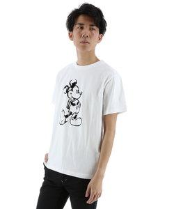 semantic design×MICKEY フロッキーグラフィックTシャツ