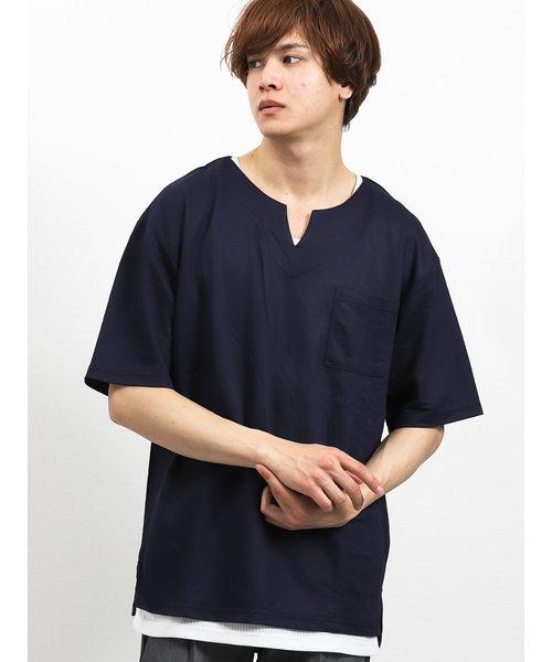 アンサンブル(鹿の子半袖Tシャツ+タンクトップ)