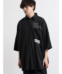 ストライププリント半袖BIGシャツ