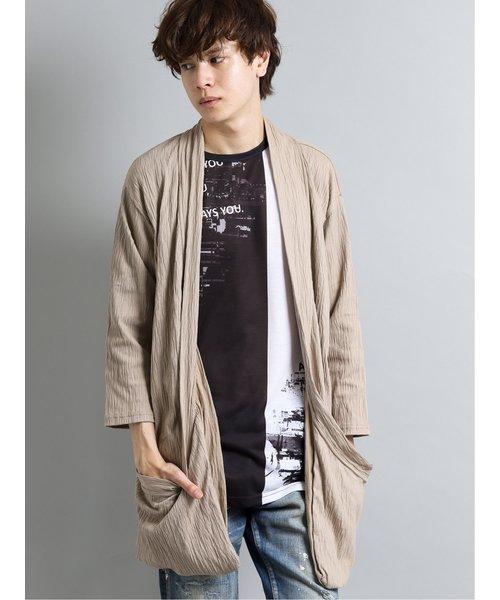 シェラック/SHELLAC 7分袖デザインカーディガン