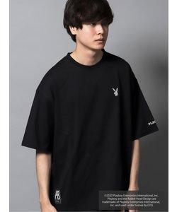 プレイボーイ/PLAYBOY別注 綿天竺バックフォトグラフィックBIG半袖Tシャツ