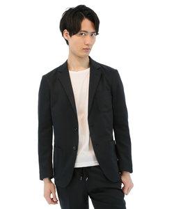 軽量ストレッチセットアップコットンライクジャケット 黒