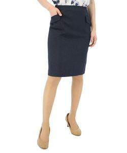 ウォッシャブルセットアップタイトスカート 紺オックス