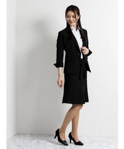 クールベストセットアップスーツ黒(テーラージャケット+スカート)