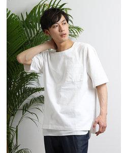 アンサンブル(ポコブロードTシャツ×ワッフルタンクトップ)