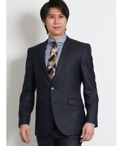 ハイパーストレッチ短丈ドビー紺 2ピーススーツ スリムフィット