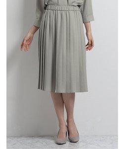 リネンライク プリーツスカート