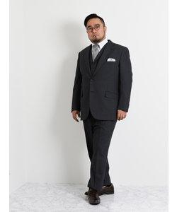 【大きいサイズのメンズ服・グランバック】ALEXANDER JULIAN ALFRED BROWN ストライプ3ピースビジネウスーツ