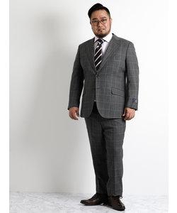 【大きいサイズのメンズ服・グランバック】ALEXANDER JULIAN MARZOTTO ウィンドペングレー2ピースビジネススーツ