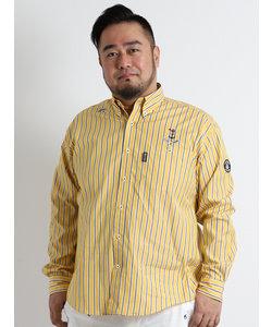 【大きいサイズのメンズ服・グランバック】シナコバ/SINACOVA プレミアムストライプボタンダウン長袖シャツ